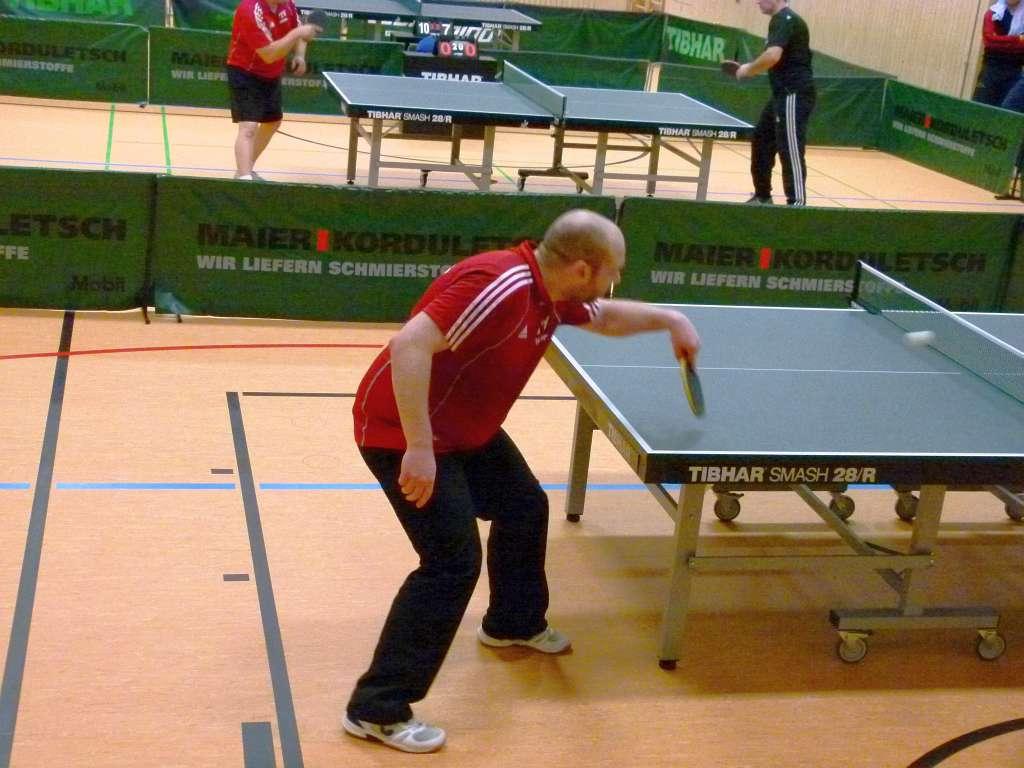 Im Doppel und Einzel erfolgreich: Herbert Probst (Position 3)