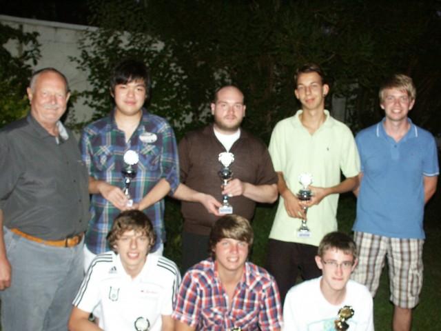 Die Sieger der Vereinsmeisterschaft 2011