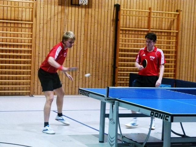 Hatten diesmal im Doppel das Nachsehen: (v.l.) Stephan Katzbichler und Sebastian Schacherl