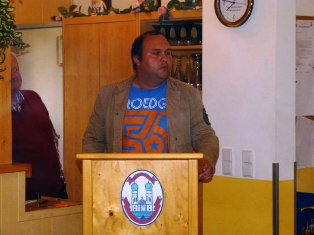 Berichtete über die Entwicklung und Veranstaltungen des Förderkreises: Vorsitzender Florian Geier
