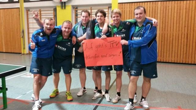 Die 1. Herrenmannschaft nach dem 9:4-Erfolg bei Tabellenführer DJK Bad-Höhenstadt.