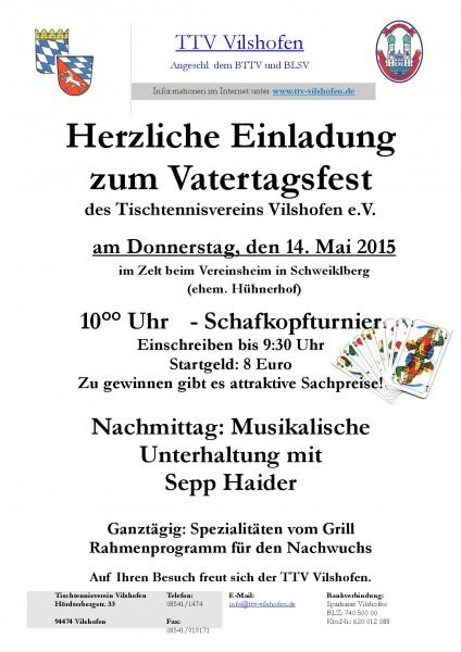 Einladung Vatertagsfest 2015