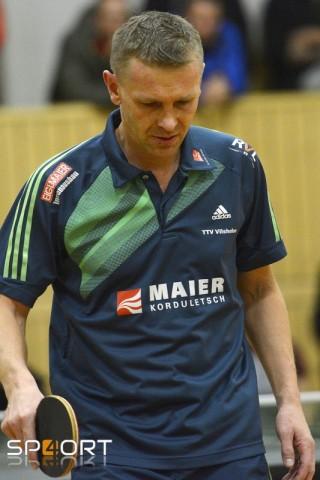 Erneut mit einem Doppel- und zwei Einzelsiegen erfolgreich: Spielertrainer Radek Drozda