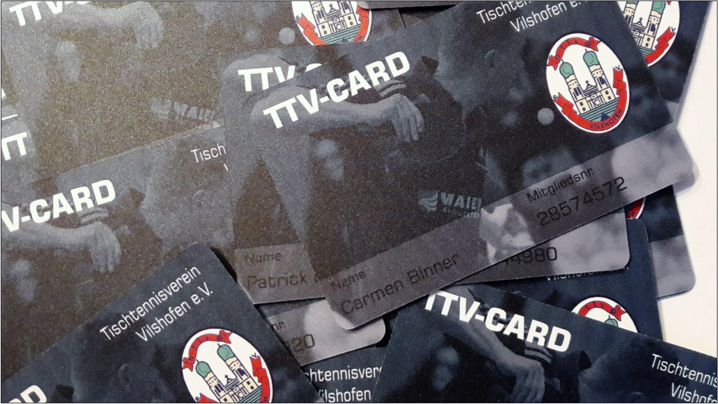 Mitgliedskarte des TTV Vilshofen